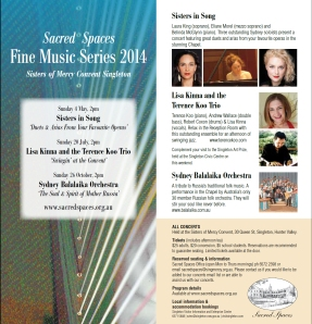 Sacred Spaces 2014 Concerts